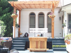 Cedar pergola & bar