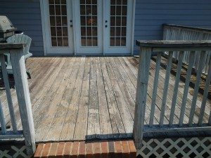 Aside from the warped deck the degree of uneven surface can be seen here.