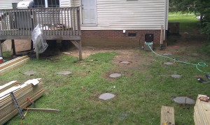 It starts with new footings
