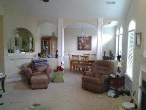 Before- living room & arches