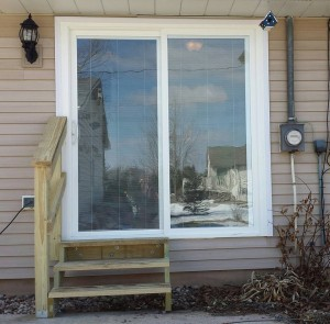 Door converted from a window for better access to the backyard.